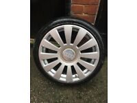 """Audi alloys and tyres 18"""" set of 4"""