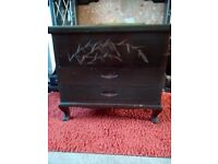 Camphor wood carved chest