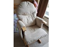 Habebe recliner rocking chair and stool