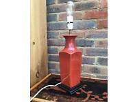 Vintage Porcelain Vase Lamp