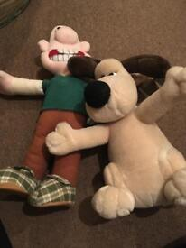 Wallace and Gromit cuddly toys