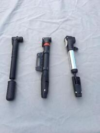 Mountain Bike Spare Parts/ -Pumps and Saddles