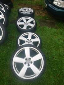 R19 Audi 5x112 wheels tyres rs6 S6