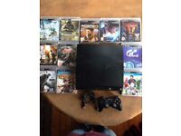 SLIMLINE 500GB PS3 and games bundle / 2ctrl'rs