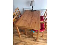 Four seats dining table with chairs