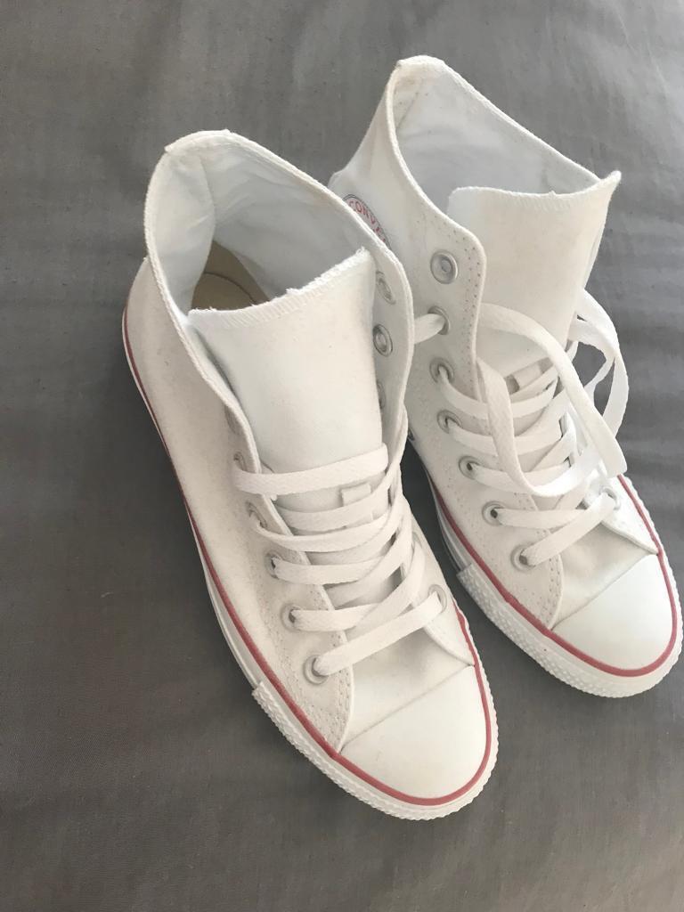 White high top converse size 5  3690e491d