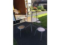 Solid beech wood and chrome table and 4 chairs £70