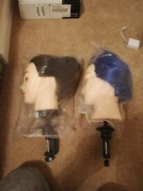 Two Mannequin heads for hair training.