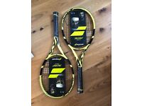 Used, Babolat Pure Aero 2019 Tennis Rackets x 2. Grip 3. Re for sale  Banbury, Oxfordshire