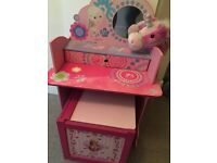 Girls Dressing Table/Desk and Toy Pony - Can Deliver
