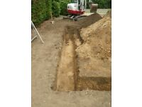 FOOTINGS DUG, FOUNDATIONS DUG, OVERSITE CLEARED, DIGGER & DUMPER HIRE WITH / WITHOUT OPERATER,