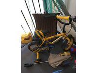 Boys yellow Halfords bike
