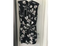 Lovely floral playsuit from Warehouse, black/floral, size 14