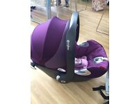 Cybex Aton Q Car Seat with ISO Fix Base inc rain cover and buggy adaptors