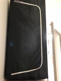 Black Canvas wardrobe Ikea
