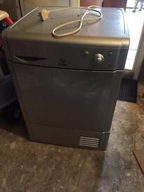 Indesit silver condenser tumble dryer