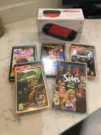 PSP Console & games - Hardly used - Lovely condition