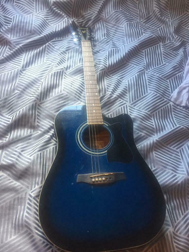 Ibanez semi acoustic guitar (blue) | in Southwick, East Sussex | Gumtree