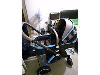 i-safe 3 in 1 travel system pram pushchair