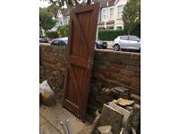 External softwood, panelled door