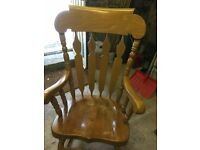 Solid Rocking Chair Heavy Pine £35