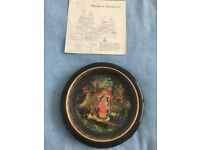 Rare Russian Hand Painted Plates