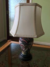 Moorcroft Table Lamp and Shade