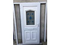 Double glazed door frame