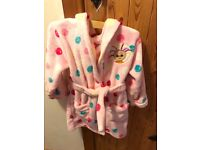 Upsy Daisie fleecy soft dressing gown aged 2-3 in excellent condition