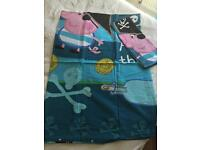 Peppa Pig duvet cover and pillowcase set £2