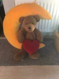 Delightful full size hanging teddy on moon