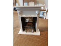 Wooden dolls house furniture fire place