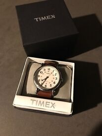 Timex watch, leather
