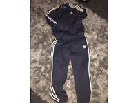 Blue/Navy Addidas Tracksuit. Age 14 years.