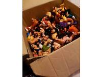 Wrestling figures from the 80s and 90s