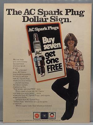 Vintage Magazine Ad Print Design Advertising AC Delco Sparkplugs