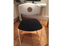 STOLJAN Conference chair, white, black