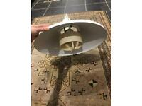 Danish 60s 70s industrial light lampshade fitting