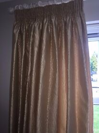 Gold curtains 7 foot (213 cm) drop