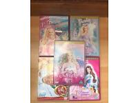 Selection of 5 Barbie DVDs