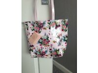 Beautiful BNWT Ted Baker Pale Pink Rose Floral Tote Bag shopper shoulder handbag