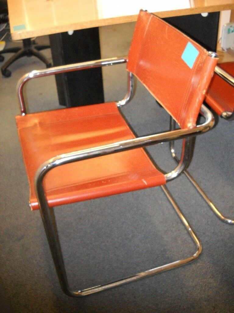 Bauhaus Style Cantilever Chair With Tubular Steel Frame