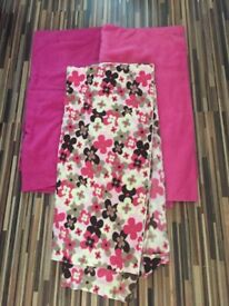 metres of Pink Polar fleece fabric, BN, baby pink, Fuscia & pink pattern. see descrip.. £10 ovno