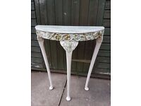 RESTORATION PROJECT - Vintage Half Moon Small Console Table
