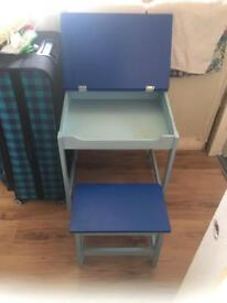 Kids desk and stool