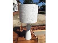 White table lamp & shade