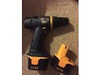 Ryobi CCD-1201 drill (two batteries)