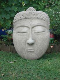 Large Buddha Face Sculpture, Garden Art, Garden Buddha Statue,Zen