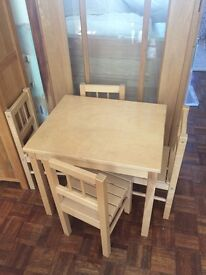 Ikea child's table and 4 chairs set - £25 ono