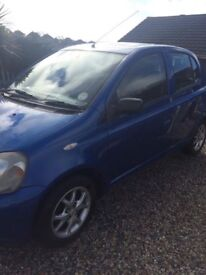 Toyota Yaris 1.3 currently SORNED